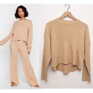 NWT Nasty Gal Knit Alone Sweater